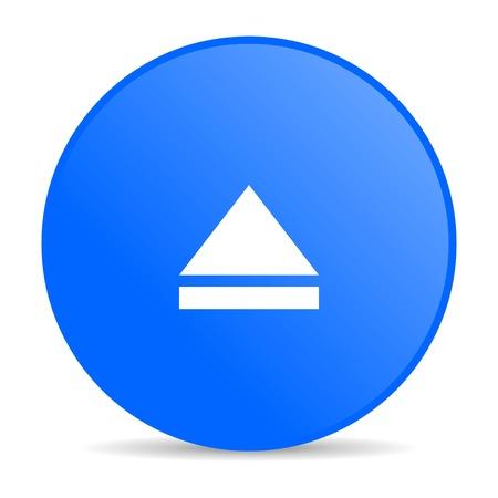 eject blue circle web glossy icon  photo