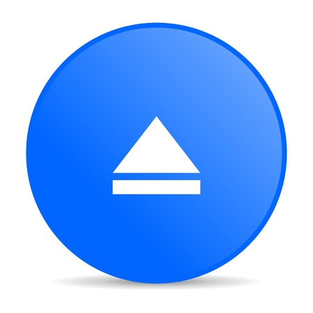 eject: eject blue circle web glossy icon