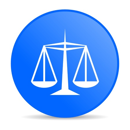 justice blue circle web glossy icon  photo