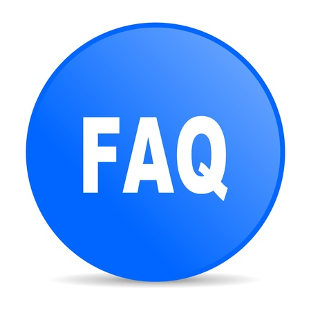 faq blue circle web glossy icon  photo