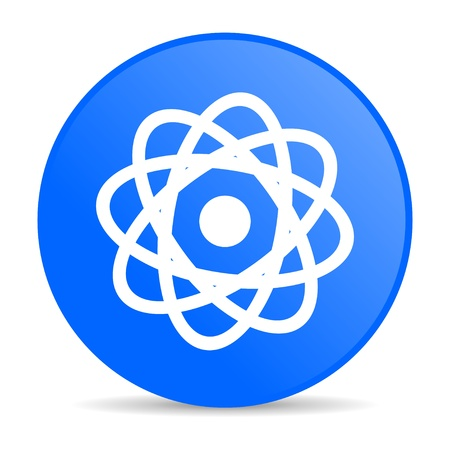 atom blue circle web glossy icon  photo