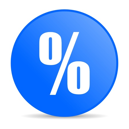 percentage sign: percent blue circle web glossy icon  Stock Photo