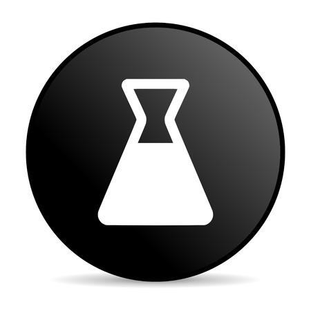 chemistry black circle web glossy icon  photo