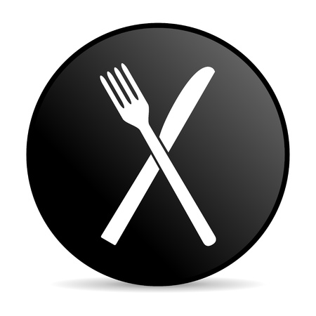 food black circle web glossy icon  photo