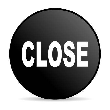 close black circle web glossy icon  photo