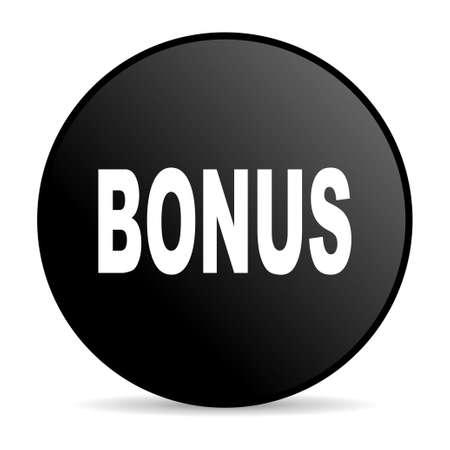 bonus black circle web glossy icon  photo