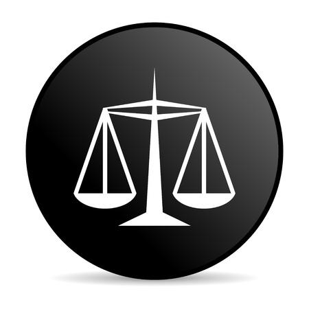 justice black circle web glossy icon  photo