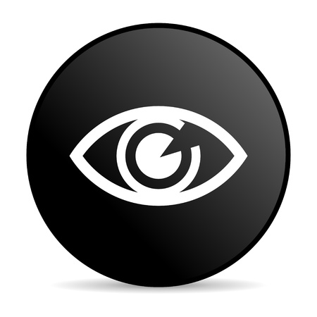 see a doctor: eye black circle web glossy icon