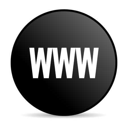 www black circle web glossy icon