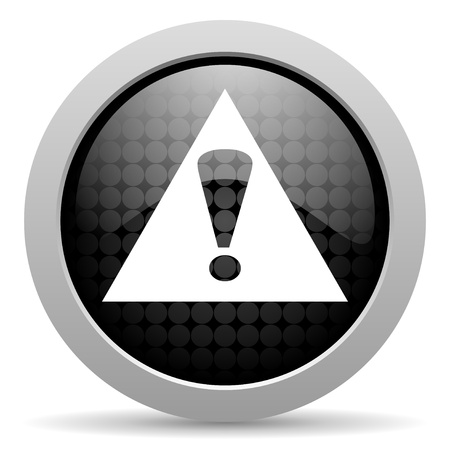 warning black circle web glossy icon  photo