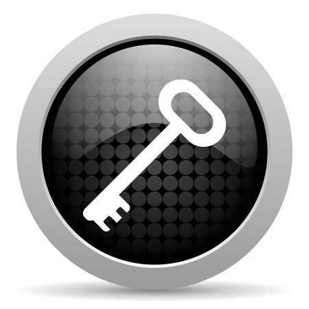 key black circle web glossy icon  photo