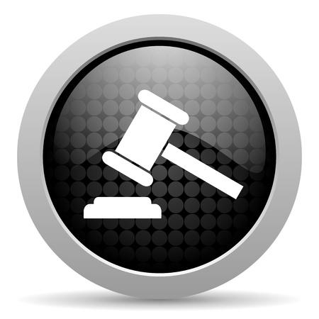 law black circle web glossy icon   photo