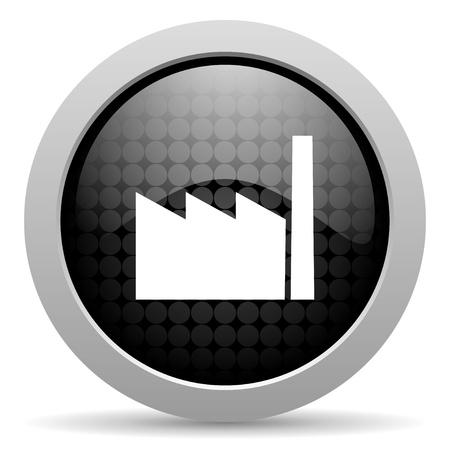 industry black circle web glossy icon   photo