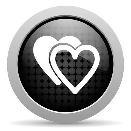 love black circle web glossy icon  photo
