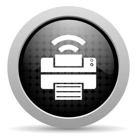 print black circle web glossy icon  photo