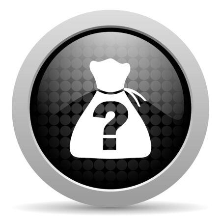 riddle black circle web glossy icon  photo