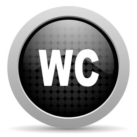 wc black circle web glossy icon  photo