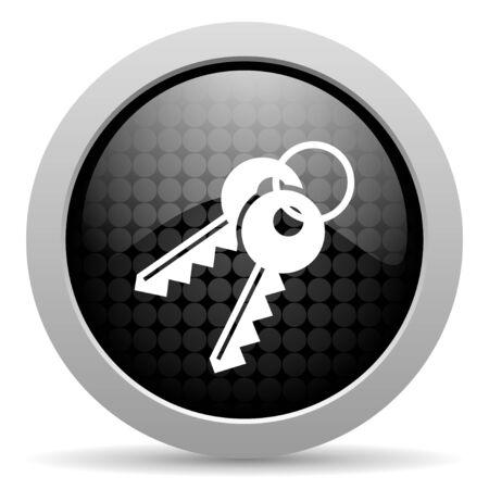 keys black circle web glossy icon   photo