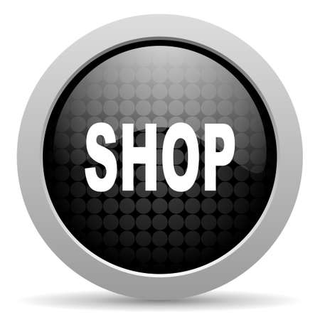 shop black circle web glossy icon   photo