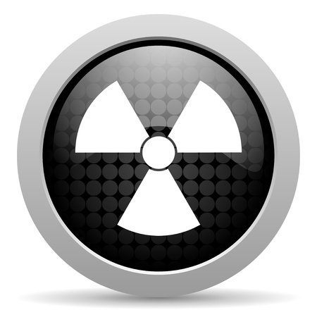 radiation black circle web glossy icon  photo