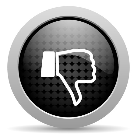 dislike black circle web glossy icon
