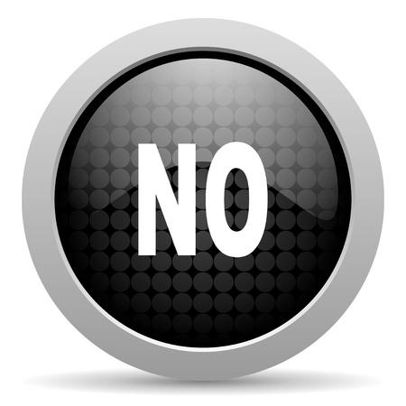 no black circle web glossy icon Stock Photo - 19347566