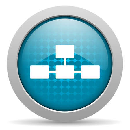 database blue circle web glossy icon  photo