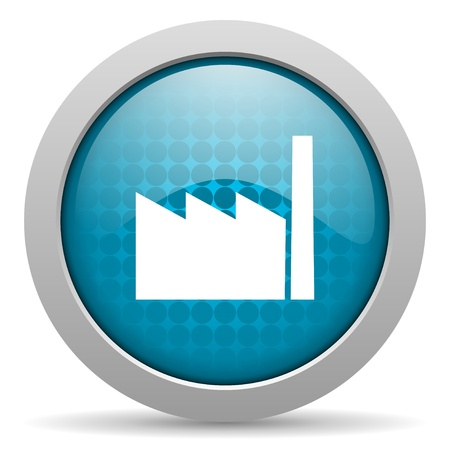 industry blue circle web glossy icon  photo