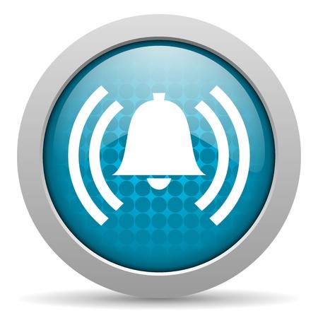 morning blue hour: alarm blue circle web glossy icon