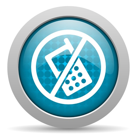 no phones blue circle web glossy icon  photo