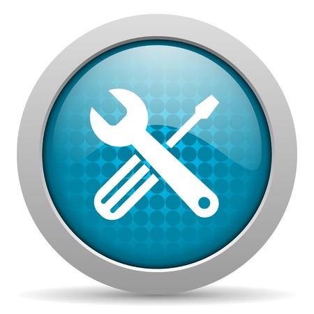 tools blue circle web glossy icon  photo