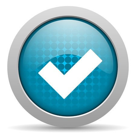 accept blue circle web glossy icon  photo