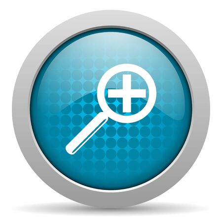 magnification: magnification blue circle web glossy icon