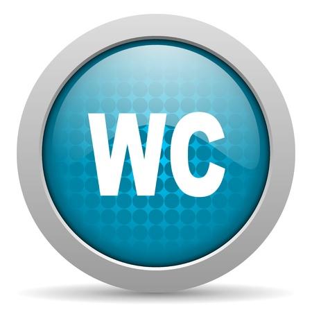 wc blue circle web glossy icon  photo
