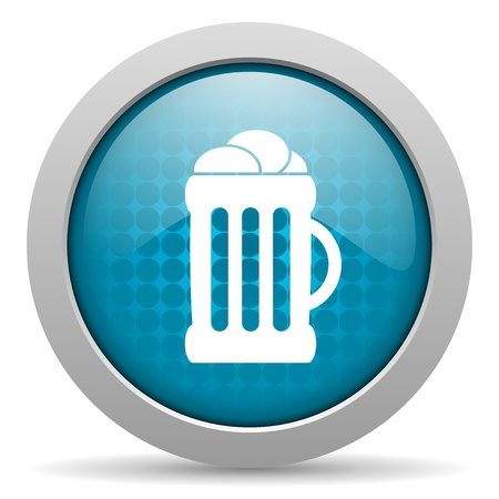 cereal bar: beer blue circle web glossy icon  Stock Photo