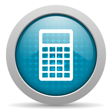 calculator blue circle web glossy icon  photo