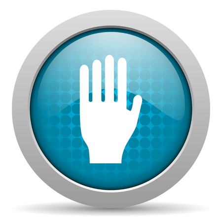 stop blue circle web glossy icon Stock Photo - 19347885