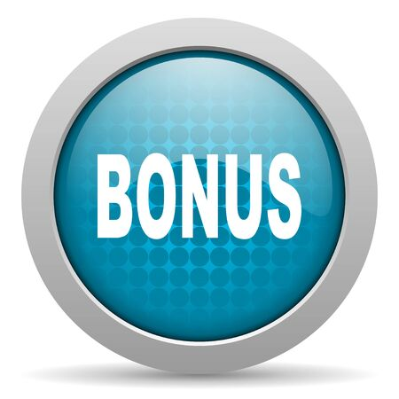 bonus blue circle web glossy icon  photo