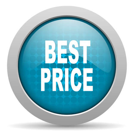 best price blue circle web glossy icon Stock Photo - 19348227