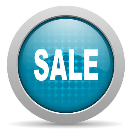 sale blue circle web glossy icon  photo