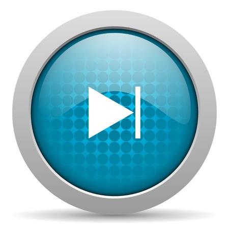 next blue circle web glossy icon  photo