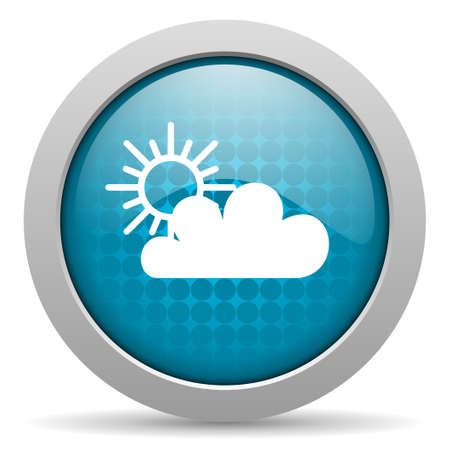 weather forecast blue circle web glossy icon  photo