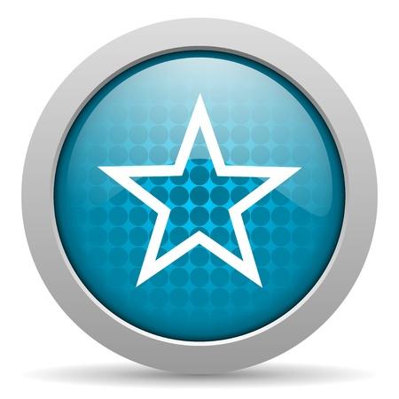 star blue circle web glossy icon Stock Photo - 19348277