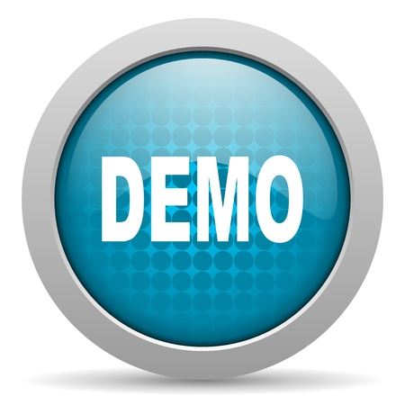 demo blue circle web glossy icon  photo