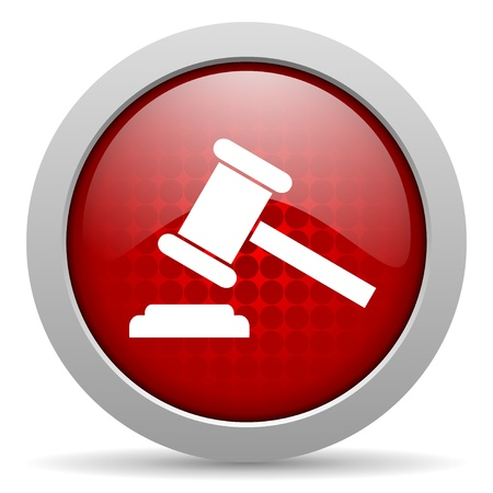 law red circle web glossy icon Stock Photo - 19467203