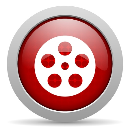 film red circle web glossy icon  photo