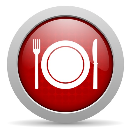 food red circle web glossy icon  photo