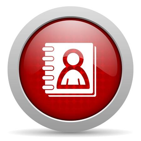 address book red circle web glossy icon  photo