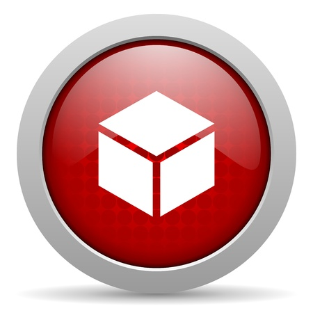 box red circle web glossy icon  photo