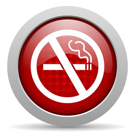 no smoking red circle web glossy icon  photo